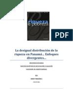 La Distribucion de La Riqueza en Panama