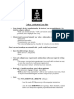 college application essay tips