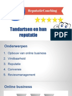 Marketing Voor Tandartsen - Tandartsen en Hun Reputatie