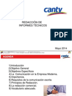Presentación Curso de Redacción Informes Técnicos Mayo 2014