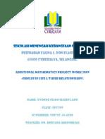 Additional Mathematics Project SPM (Form 5) 2009