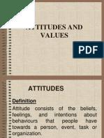 Attitudes Values