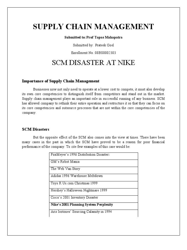 nike supply chain management pdf