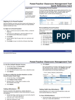 PowerTeacher Quick Reference Card