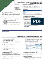 PowerTeacher Quick Reference Card