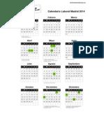 Calendario Laboral Madrid 2014 PDF