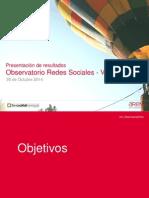 6º observatorio de redes sociales