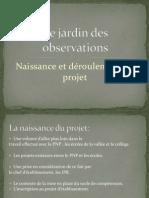 prsentation projet du jardin des observations