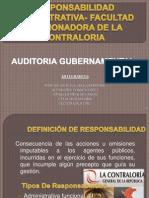 Responsabilidad Administrativa- Facultad Sancionadora