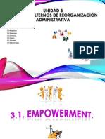 U3. Procesos Alternos de Reorganizacion Administrativa