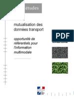 Rapport d'Étude d'Opportunité (EO) Mutualisation Des Données (Qualité, Référentiel)
