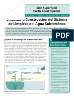 "EPA Pacific Coast Pipeline Superfund Factsheet, ""Construction of Groundwater Cleanup Remedy to Begin,"" October 2014 Spanish"