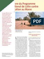 Mise en oeuvre du Programme d'action nationale de lutte contre la désertification