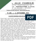 Lettera alle Famiglie - 2 novembre 2014