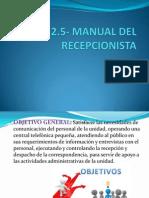4.2.5- Manual Del Recepcionista