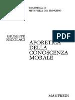 Giuseppe Nicolaci - Aporetica della conoscenza morale