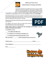 authorization of charge halloween 2014