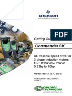 Emerson Commander SK Getting Started Guide Size A-D