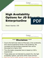 gsi - high availability options for e1