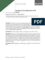 La Segregación, Los Guetos y La Integración Social Urbana Mitos y Claves.sabatini2008