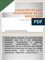 REEDUCACIÓN DE LOS TRASTORNOS DE LA ESCRITURA.pptx