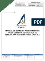 Manual de Normas y Procedimientos de Logistica