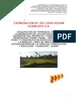 SEDAM HUANCAYO S_A_-BASES , Adquisicion de Terrenos