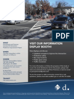 Flyer for the 11/6/14 Information Display Booth for the Pennsylvania and Potomac Avenues SE Intersection Pedestrian Improvement Project