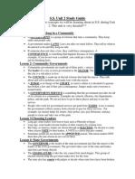 ss study guide unit 2