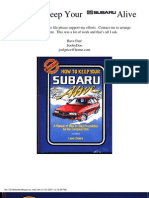How to Keep Your Subaru Alive
