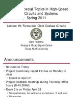 Lecture19 Ee689 Fwd Clk Deskew