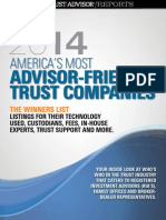 2014 Advisor Friendly Trust Companies