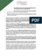 Nota de prensa #DéjalaDecidir