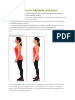 Common Posture Mistakes and Fixes