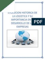 -Evolucion Histrica de La Logistica y Su Importancia en El Desarrollo de Las Empresas