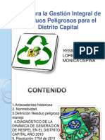 Politica Gestion Residuos Peligrosos Bogota