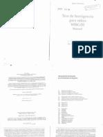 WISC-III Manual Wechsler