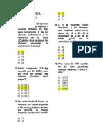 Evaluación de Matemática - Vi Unidad - 2 Grado - Sec