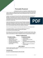 Leed Permeable Paving