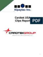 Cardtek Sept 2014 Clips Report