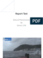 Report Text Natural Phenomenon