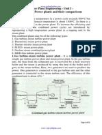 ppe unit 01 combined power plants and comparison v+