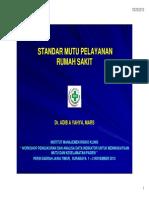 PMKP AKreditasi RS - Standard Mutu