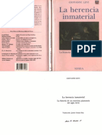 Giovanni Levi, La Herencia Inmaterial