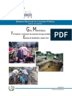 Manual para formular y evaluar proyectos de agua potable
