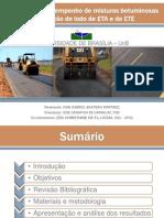 Avaliação de misturas asfalticas com adição de lodos de ETA e de ETE