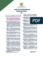 Gaceta de Jurisprudencia Sentencias Julio 2014