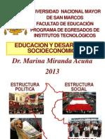 UNMSM Educacion Desarrollo Socioeconomico