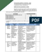 Rubrica de Evaluacion II-2014