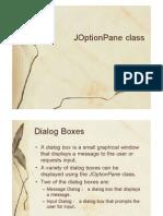 JOptionPane Class